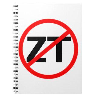 End Zero Tolerance Spiral Notebook