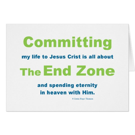 end zone card