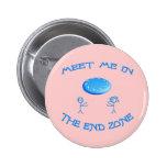 End Zone Frisbee 2 Inch Round Button