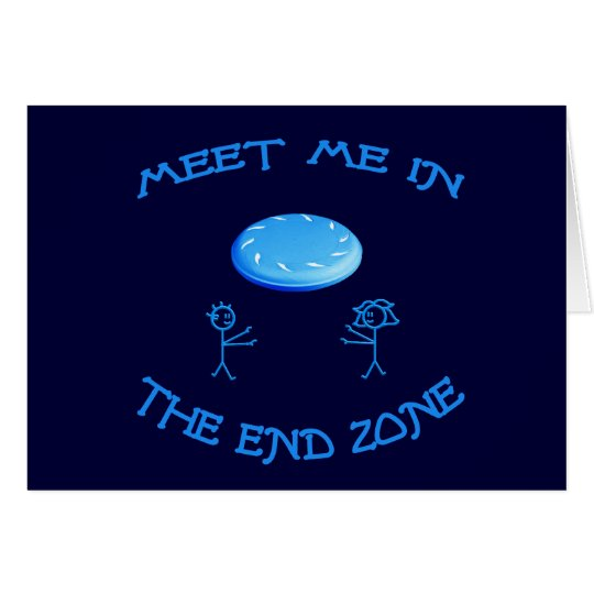 End Zone Frisbee Card