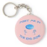 End Zone Frisbee Key Chain