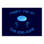 End Zone Frisbee Large Business Card