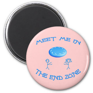 End Zone Frisbee Magnet