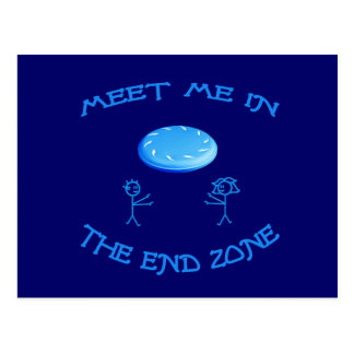 End Zone Frisbee Post Card