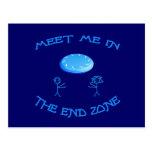 End Zone Frisbee Postcard