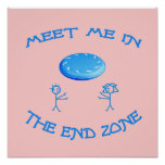 End Zone Frisbee Posters