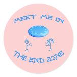 End Zone Frisbee Round Sticker