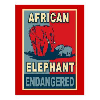 Endangered African Elephant Pop Art Tshirts Postcard