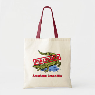 Endangered American Crocodile Products Tote Bag