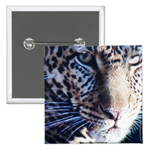 Endangered Amur Leopard button