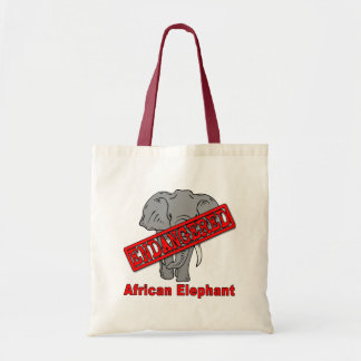 Endangered Animal African Elephant Tote Bag
