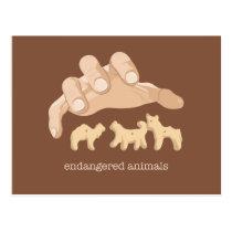 Endangered Animals Postcard