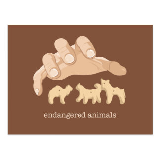Endangered Animals Postcard