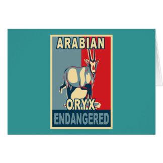 Endangered Arabian Oryx Pop Art Tshirts Card