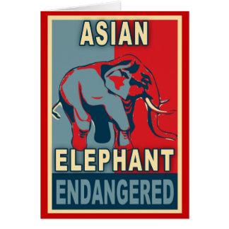 Endangered Asian Elephant Pop Art Tshirts Card