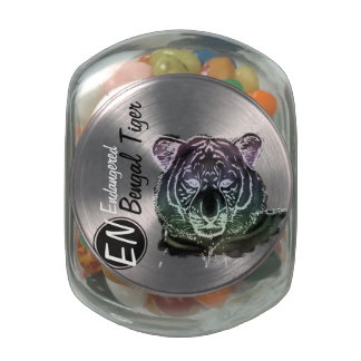 Endangered | Bengal Tiger | Candy Jar 2 Glass Candy Jar