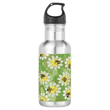 alburtonart Endangered Bumblebees Stainless Steel Water Bottle