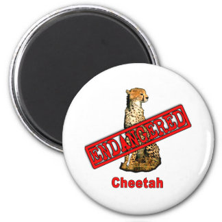 Endangered Cheetah Products Refrigerator Magnets