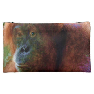 Endangered Female Orangutan Primate Wildlife Art Cosmetic Bag