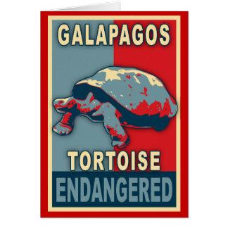 Endangered Galapagos Tortoise Pop Art Tshirts Card