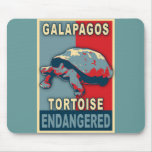 Endangered Galapagos Tortoise Pop Art Tshirts Mouse Pad