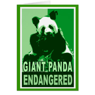 Endangered Giant Panda Pop Art Tshirts Card