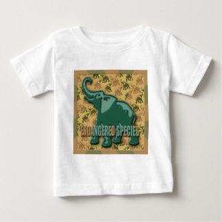 Endangered Green Elephant Baby T-Shirt