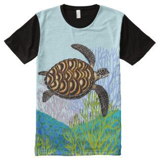 Endangered Hawksbill Sea Turtle Panel Shirt