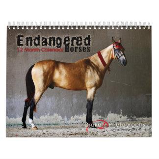 Endangered Horse Breeds Calendar