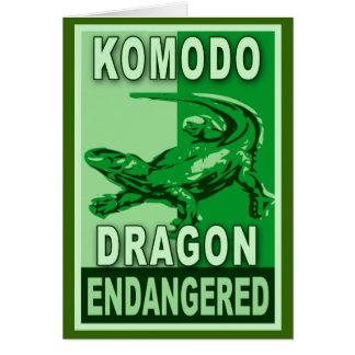 Endangered Komodo Dragon Pop Art Tshirts Card