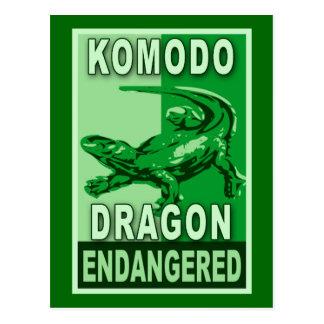 Endangered Komodo Dragon Pop Art Tshirts Postcard