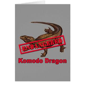Endangered Komodo Dragon Tshirts Card