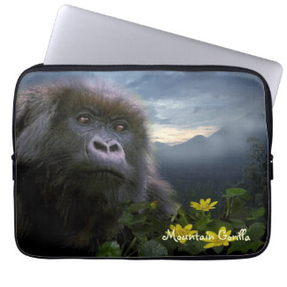 Endangered Mountain Gorilla Wildlife Laptop Sleeve