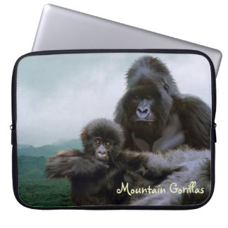 Endangered Mountain Gorilla Wildlife Laptop Sleeve