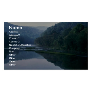 Endangered mussel habitat business card template