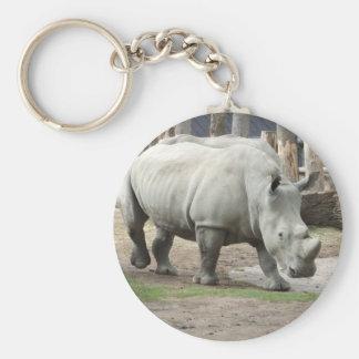 Endangered Northern White Rhinos Keychain