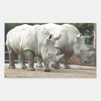 Endangered Northern White Rhinos Sticker
