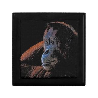 Endangered Orangutan Primate Portrait Jewelry Box