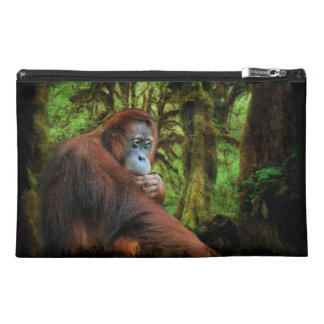 Endangered Orangutan & Rainforest Primate Image Travel Accessory Bag