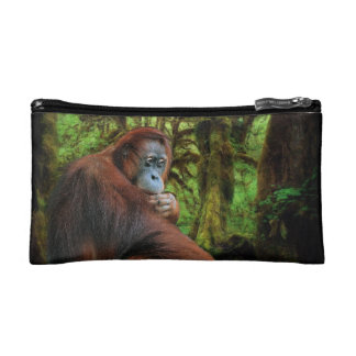 Endangered Orangutan & Rainforest Primate Image Makeup Bag