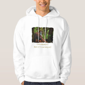 Endangered Orangutans Primate Wildlife Art T-Shirt