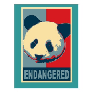 Endangered Panda Pop Art Design Postcard