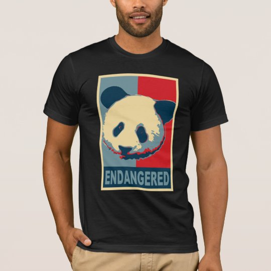 Endangered Panda Pop Art Design T-Shirt