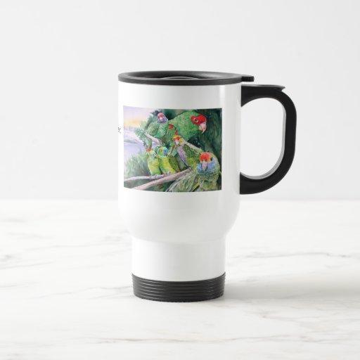 Endangered Parrots of Brazil's Atlantic Rainforest 15 Oz Stainless Steel Travel Mug
