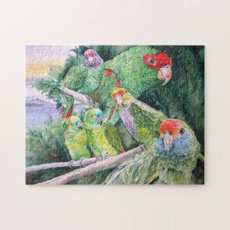 Endangered Parrots Watercolor Art Puzzle