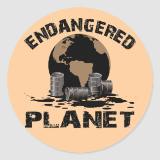 ENDANGERED PLANET CLASSIC ROUND STICKER