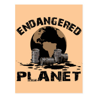 ENDANGERED PLANET POSTCARD