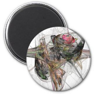 Endangered rose 2 inch round magnet