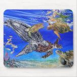 Endangered Sea Turtle Art Mouse Pad