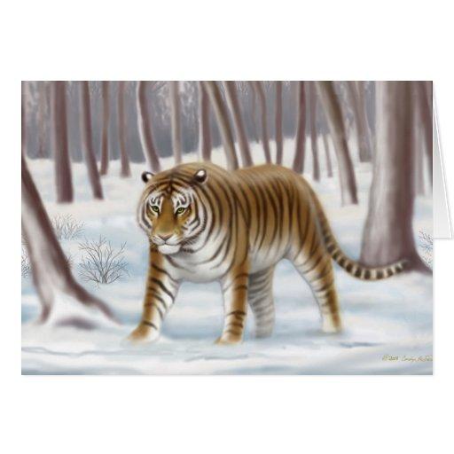 Endangered Siberian Tiger Card
